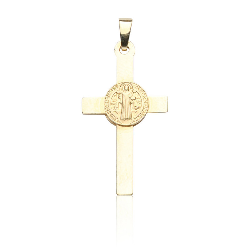 Kettenanhänger Benediktuskreuz, 585 Gold