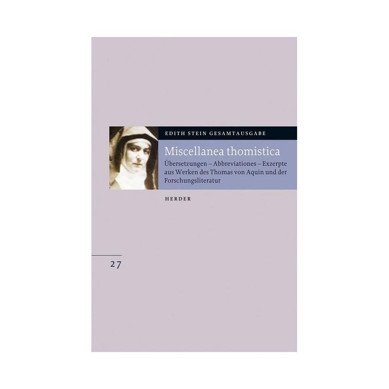 Edith Stein Gesamtausgabe Nr.27